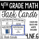 4.NF.6 4th Grade Math Task Cards (Relating Fractions and D