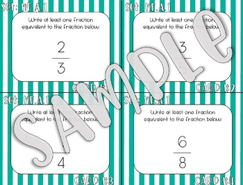 4.NF.A.1 Determine Equivalent Fractions Task Cards