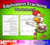 4.NF.1 - Equivalent Fractions Worksheets