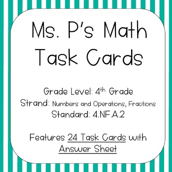 4.NF.A.2 Comparing Fractions Task Cards