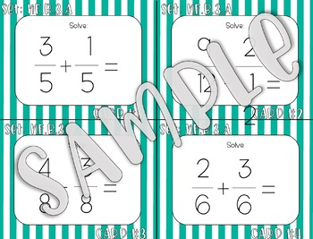 4.NF.B.3.A Add and Subtract Fractions Task Cards