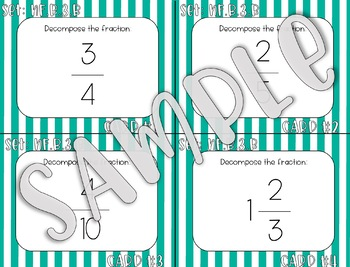4.NF.B.3.B Decompose Fractions Task Cards