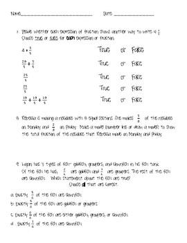 4.NF.B.3.A-D Worksheet (Practice/Homework/Quiz)