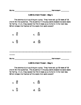 4.NF.C.5 Exit Ticket - Introduction
