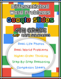 4.NF Math Word Problem Google Slides with Companion Sheets