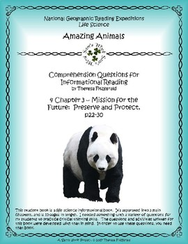 4 NGRE Amazing Animals - Ch 3, Mission for Future, Preserve and Protect, p22-30
