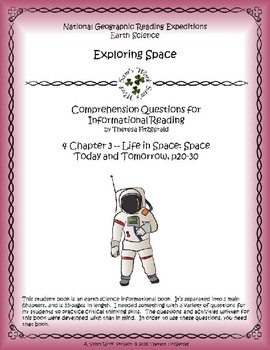 4 NGRE Exploring Space - Ch. 3, Life in Space, Space Today and Tomorrow, p20-30