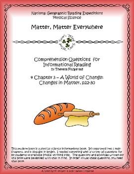 4 NGRE Matter, Matter Everywhere - Ch. 3, Changes in Matter, p22-30