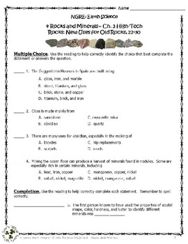 4 NGRE Rocks and Minerals - Chapter 3, New Uses for Old Rocks, p22-30