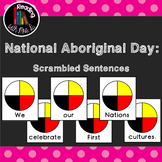 4 National Aboriginal Day Scrambled Sentences PLUS Matching Recording Page