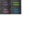 4 Nine weeks chalkboard Filing Cabinet Labels