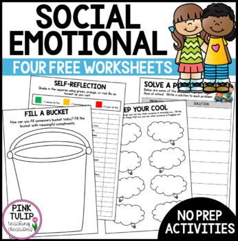 Social Emotional Learning Worksheets Teaching Resources Teachers