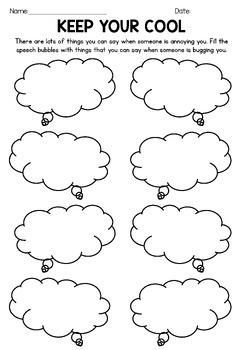 4 No Prep Printable Social Emotional Learning Worksheets   TpT