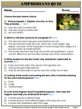 4 Nonfiction Quizzes with Visual Text Features