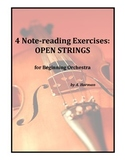 4 Note-Reading Exercises for Beginning Orchestra - Open Strings