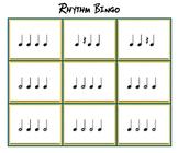4 Note Rhythm Bingo