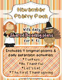 November Poetry Pack ~ w/ daily Shared Reading Plans {Comm