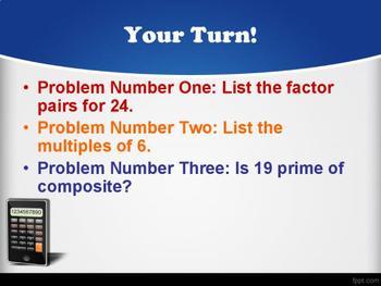 4.OA.1, 4.OA.2, 4.OA.3, 4.OA.4, and 4.OA.5  Mini-Lesson/Review/Study-Guide