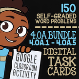 4.OA.1-4.OA.5 Self-Graded Google Classroom Math Activities | 4th Grade Bundle