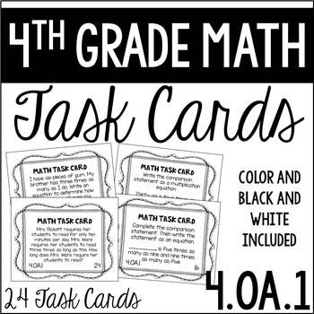 4.OA.1 4th Grade Math Task Cards