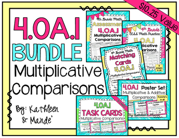 4.OA.1 BUNDLE: Muliplicative Comparisons