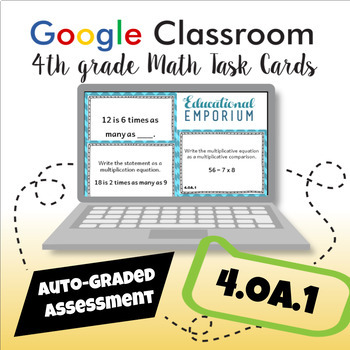 4.OA.1 Digital Task Cards: Multiplication as Comparison