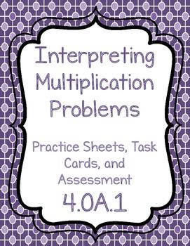 4.OA.1 Interpreting Multiplication Problems Teaching Pack