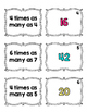 4.OA.1 Matching Cards: Multiplicative Comparisons