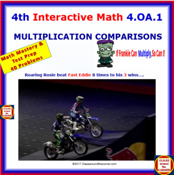 4.OA.1 Math Interactive Test Prep – Multiplicative Comparisons