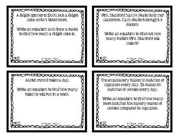4th Grade   Multiplicative Comparison Equations 4.OA.1