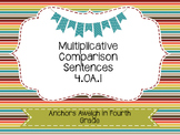 4.OA.1 Multiplicative Comparison Task Cards