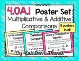 4.OA.1 Poster Set: Multiplicative & Additive Comparisons