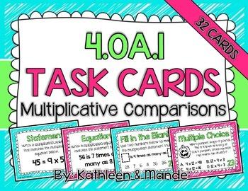 4.OA.1 Task Cards: Multiplicative Comparisons