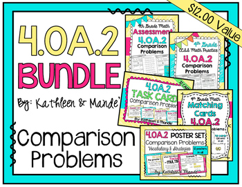4.OA.2 BUNDLE: Comparison Word Problems