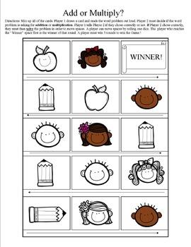 4.OA.2 GAME Comparisons: Addition vs Multiplication