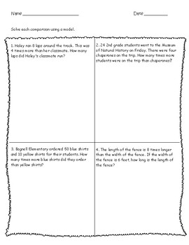 4.OA.2 Multiplicative Comparison Word Problems - Guided Lesson