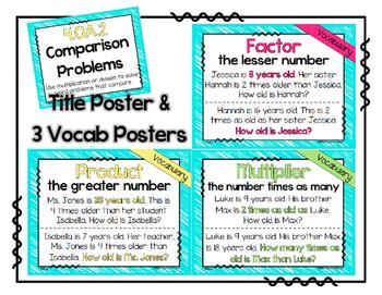 4.OA.2 Poster Set: Comparison Problems