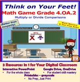 4.OA.2 THINK ON YOUR FEET MATH! Three in 1 Interactive Gam