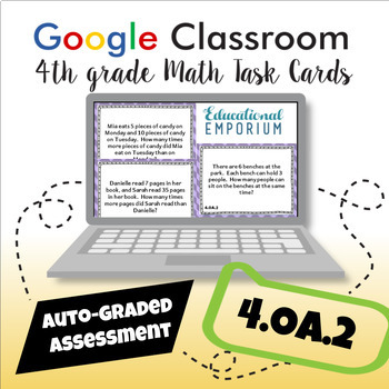 4.OA.2 Task Cards Digital: Multiplication as Comparison Word Problems