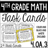 4.OA.3 4th Grade Math Task Cards