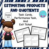 4.OA.3 Estimate Products and Quotients Task Cards