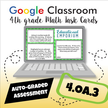 4.OA.3 Google Task Cards: Multi-Step Word Problems