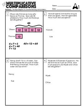 4.OA.3 Multiplicative Comparisons