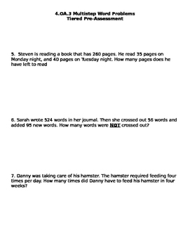 4.OA.3 Multistep Word Problems