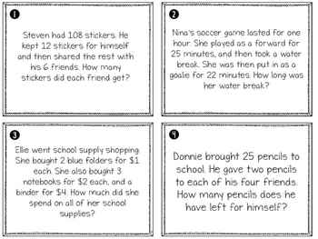 4.OA.3 Solving Word Problems with the 4 Basic Operations Teaching Pack