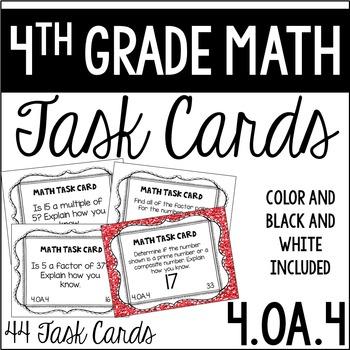 4.OA.4 4th Grade Math Task Cards