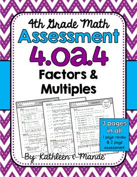 4.OA.4 Assessment: Factors & Multiples