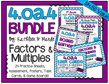 4.OA.4 BUNDLE: Factors & Multiples