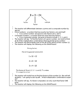 4.OA.4 Lesson Plans Fourth Grade - Math