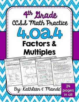 4.OA.4 Practice Sheets: Factors & Multiples